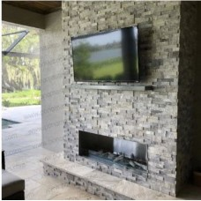 "Ponoma custom non-combustible mantle 84""x7""x2"" stainless steel black"